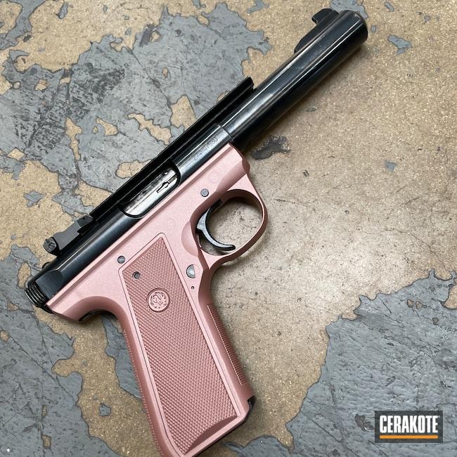 Cerakoted: S.H.O.T,Ruger,Ruger MKIII,Ruger Mark III Target,Pistol,ROSE GOLD H-327,Handguns,.22