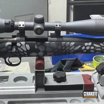 Kimber Bolt Action Rifle Cerakoted Using Tactical Grey, Sniper Grey And Battleship Grey