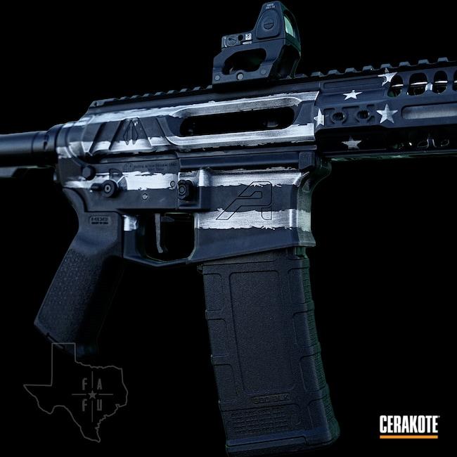 Cerakoted: S.H.O.T,American Flag,Black and White,.300 Blackout,AR Build,Aero Precision,Gibbz,AR Pistol,Snow White H-136,Graphite Black H-146,Side Charge,Distressed American Flag,AR-15