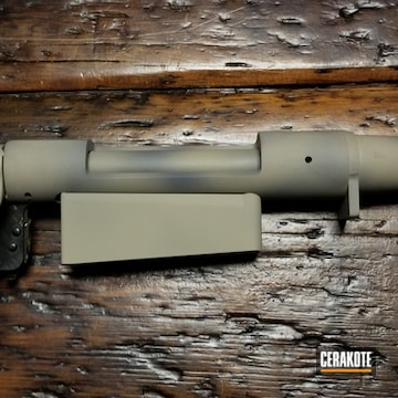 Remington 700 Barrel Cerakoted Using Desert Sand