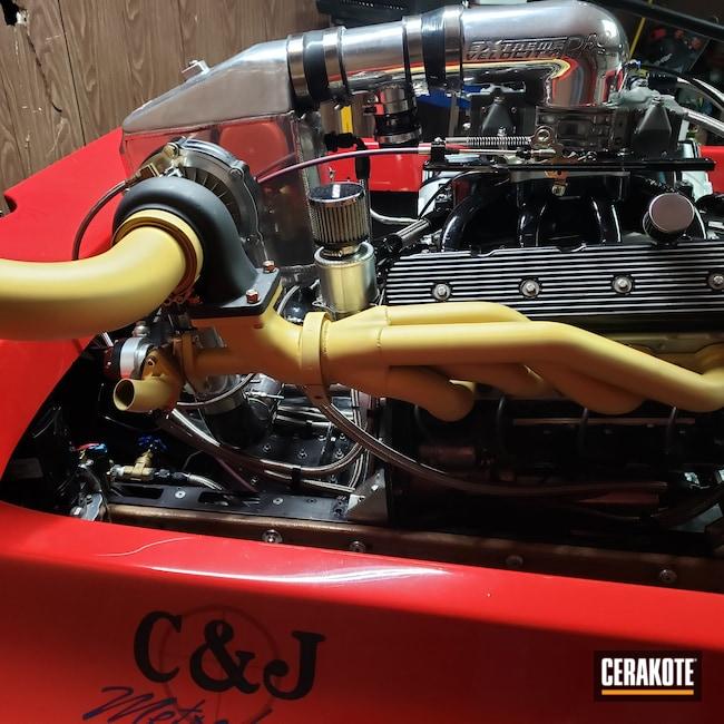 Cerakoted: CERAKOTE GLACIER GOLD C-7800,Exhaust,Drag Boat,Headers,Automotive