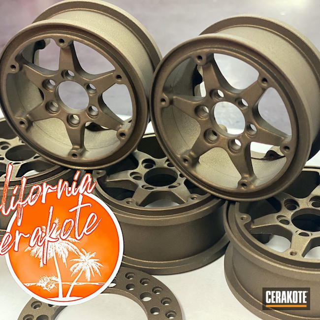 Cerakoted: RC Car Parts Cerakote Coated,Burnt Bronze H-148,Automotive,Christopher Miller,RC Car,california cerakote