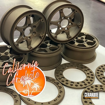 Rc Car Wheels Cerakoted Using Burnt Bronze