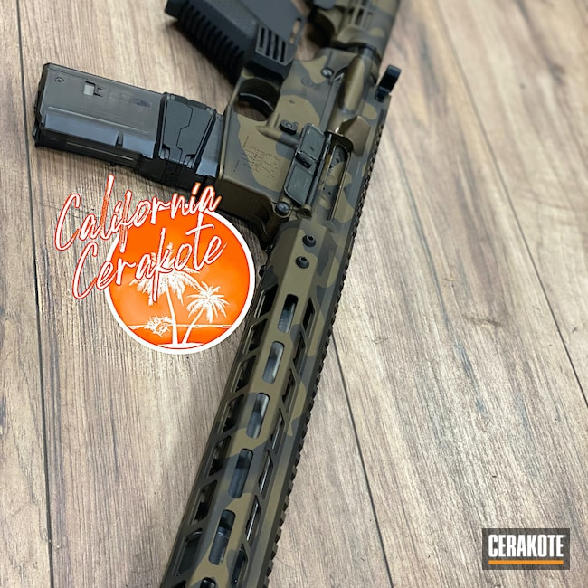 Cerakoted: S.H.O.T,Graphite Black H-146,Woodland Camo,Burnt Bronze H-148,Camo,Christopher Miller,Custom Camo,california cerakote