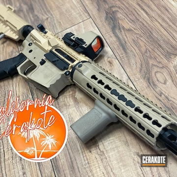 Custom Ar Build Cerakoted Using Desert Sage And Coyote Tan