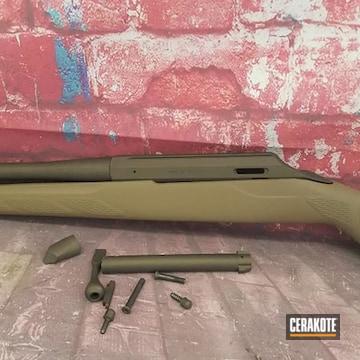 Tikka Bolt Action Rifle Cerakoted Using Midnight Bronze And Glock® Fde