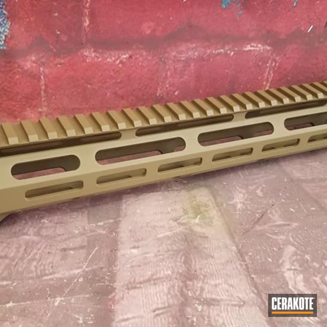 Cerakoted: S.H.O.T,Handguard,Gun Parts,FDE,Flat Dark Earth H-265,AR Build