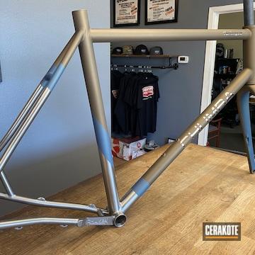 Custom Titanium Chumba Bicycle Cerakoted Using Burnt Bronze And Northern Lights