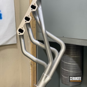 Headers Cerakoted Using Cerakote Glacier Silver