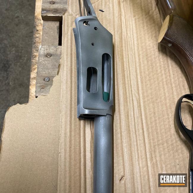 Cerakoted: S.H.O.T,35 Remington,Deer,Marlin,Black,Lever Action,Lever Action Rifle,Armor Black H-190,Rust,336