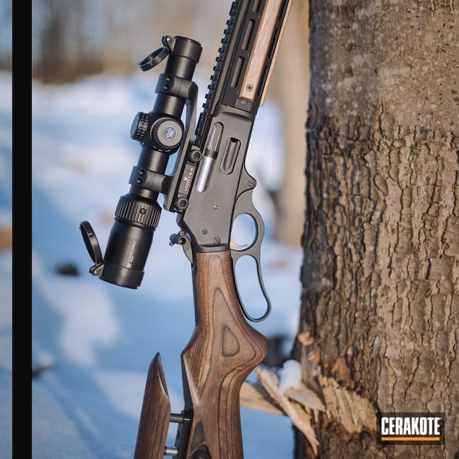 Cerakoted: S.H.O.T,35 Remington,Marlin,Deer,Black,Lever Action,Lever Action Rifle,Armor Black H-190,Rust,336