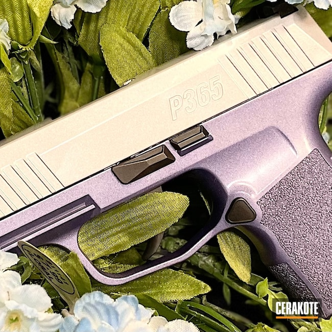 Cerakoted: S.H.O.T,9mm,Sig P365,Crushed Silver H-255,Sig Sauer,CRUSHED ORCHID H-314