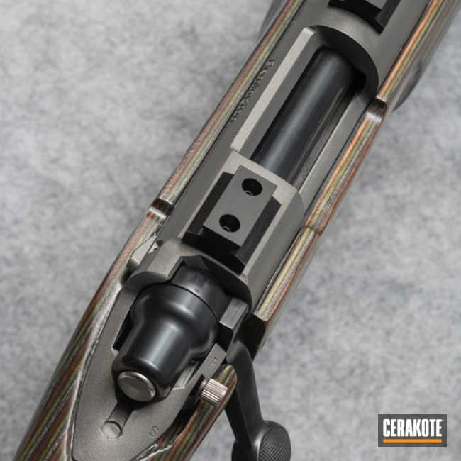 Bolt Action And Barrel Cerakoted Using Transfer Grey (air Cure)