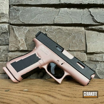 Glock 43x Cerakoted Using Rose Gold And Graphite Black
