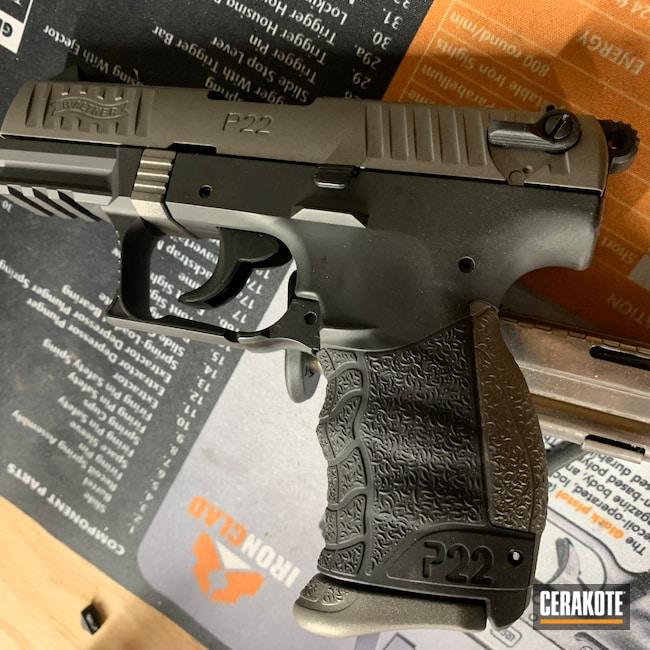 Cerakoted: S.H.O.T,Walther,P22,Armor Black H-190,Gun Metal Grey H-219,.22LR