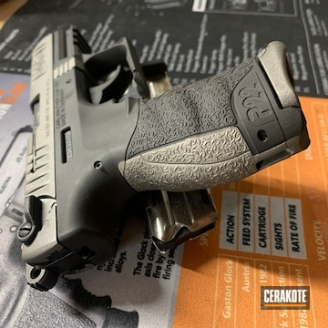 Walther P22 Pistol Cerakoted Using Gun Metal Grey And Armor Black
