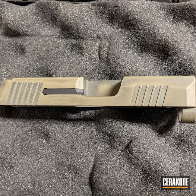 Cerakoted: S.H.O.T,Sig P365,Coyote Tan H-235,Battleworn,Graphite Black H-146,p365,Sig,.40
