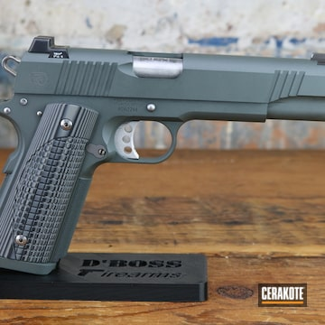 Robert's Defense 1911 Pistol Cerakoted Using Platinum Grey