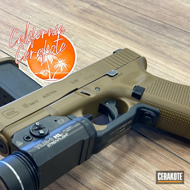 Cerakoted: S.H.O.T,Glock 19,Federal Brown H-212,Glock,Christopher Miller,california cerakote