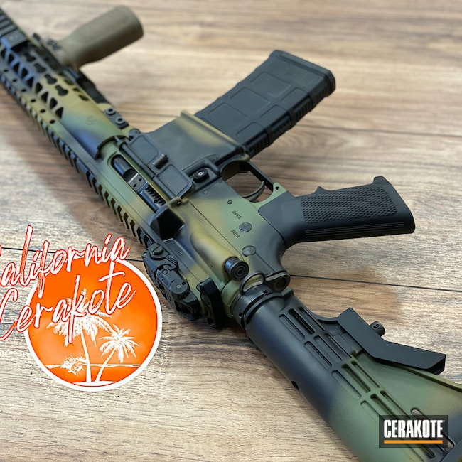 Cerakoted: S.H.O.T,MULTICAM® LIGHT GREEN H-340,Graphite Black H-146,Camo,MULTICAM® DARK BROWN H-342,Christopher Miller,Custom Camo AR,california cerakote