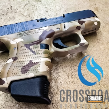 Multicam Glock 30 Cerakoted Using Desert Sand, Hazel Green And Chocolate Brown