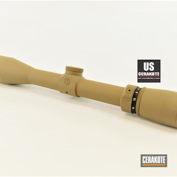 Custom Leupold Scope Cerakoted Using Flat Dark Earth