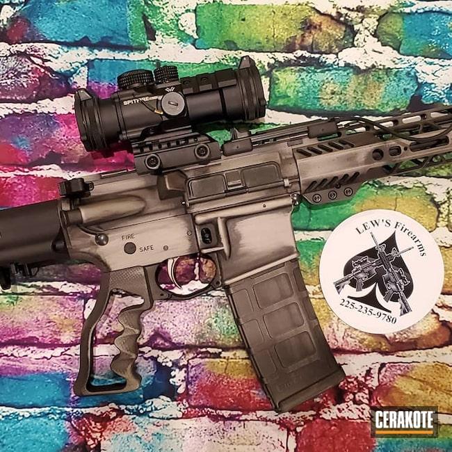 Cerakoted: Rifle,Battleworn,Graphite Black H-146,Tungsten H-237,AR Rifle