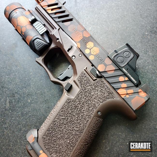 Cerakoted: 9mm,Polymer80,COPPER H-347,COPPER SUEDE H-310,Graphite Black H-146,VORTEX® BRONZE H-293,Pistol,P80,Cobalt H-112