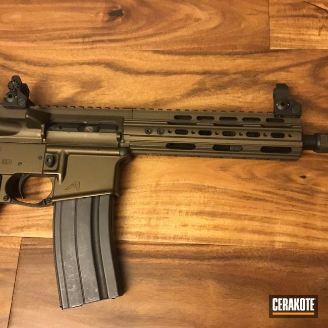 Cerakoted: Aero Precision,AR Pistol,6.8,Midnight Bronze H-294,AR-15