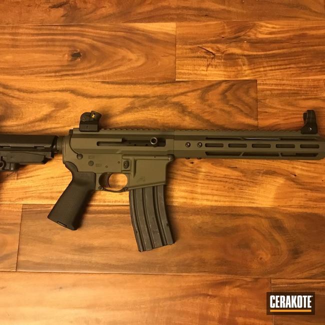 Cerakoted: Aero Precision,450 Bushmaster,AR Pistol,Sniper Green H-229,AR-15