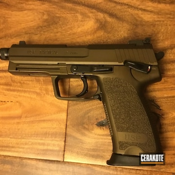 Cerakoted Usp Pistol In H-294