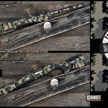 Cerakoted Kuiu Camo Firearm In H-267, E-100, H-146, H-199 And H-210