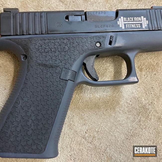 Cerakoted: Bright White H-140,S.H.O.T,Glock 43X,Armor Black H-190,Glock,American Flag
