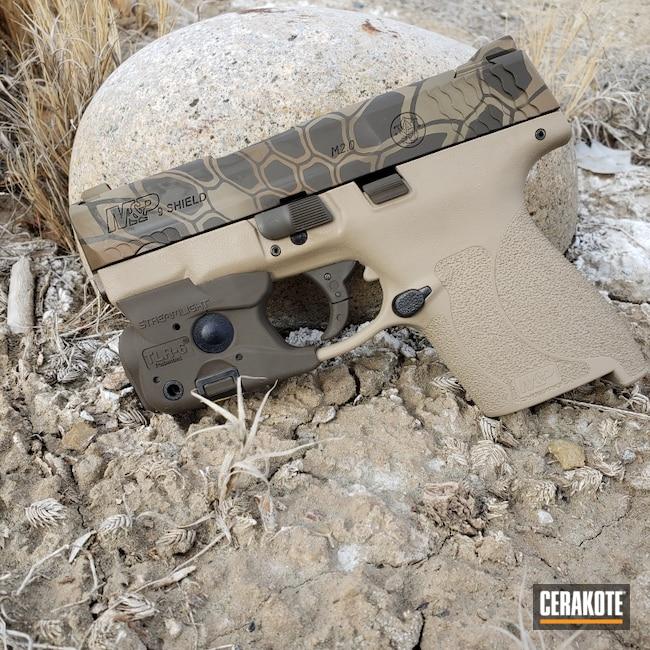 Cerakoted: S.H.O.T,9mm,Coyote Tan H-235,Kryptek,M&P9,Smith & Wesson,Patriot Brown H-226,Streamlight,M2.0,M&P Shield