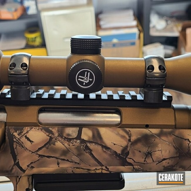 Cerakoted: S.H.O.T,Vortex,Scope,Burnt Bronze,Optic,Burnt Bronze H-148