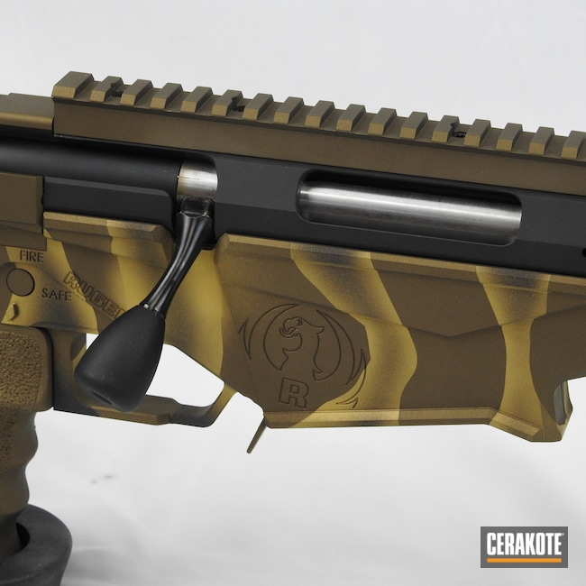Cerakoted: S.H.O.T,Rifle,Ruger Precision,Ruger,Precision,Burnt Bronze H-148,Armor Black H-190,6.5,Gold H-122
