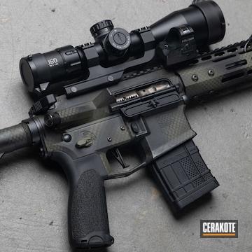 Custom Ar Build Cerakoted Using Armor Black, Magpul® O.d. Green And Mil Spec O.d. Green