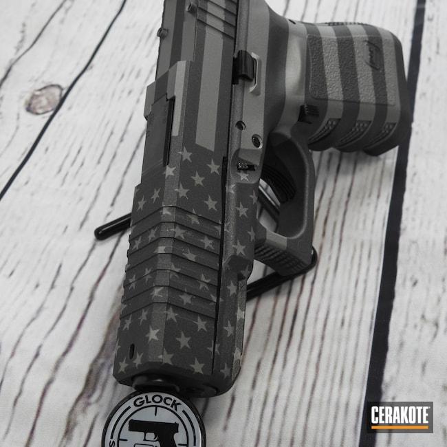 Cerakoted: S.H.O.T,Glock 19,9mm,Tungsten H-237,Titanium H-170,Glock,.9