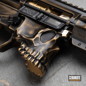 Sharps Bros The Jack Ar-15 Set Cerakoted Using Armor Black And Gold