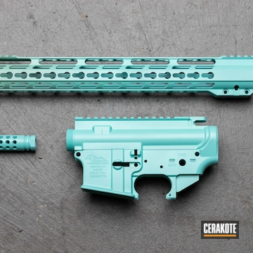 Anderson Manufacturing Ar Builders Set Cerakoted Using Robin's Egg Blue