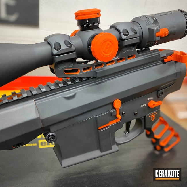 Cerakoted: S.H.O.T,Aero Precision,Scope,.223,Hunter Orange H-128,Laser Engrave,AR-15