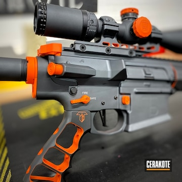 Aero Precision Ar Build Cerakoted Using Hunter Orange