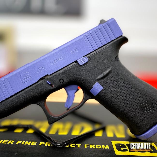 Cerakoted: S.H.O.T,9mm,Custom Mix,Glock 43X,g43x,Graphite Black H-146,Bright Purple H-217