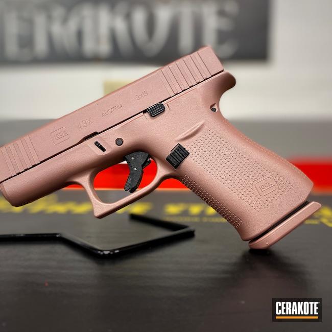 Cerakoted: S.H.O.T,9mm,Glock 43X,g43x,ROSE GOLD H-327