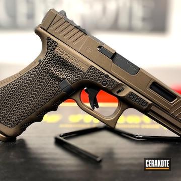 Custom Glock 23 Cerakoted Using Midnight Bronze
