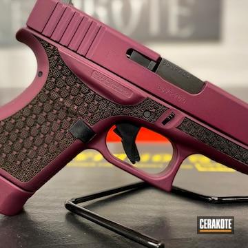 Custom Glock 43 Cerakoted Using Black Cherry