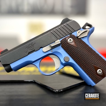 Kimber 1911 Pistol Cerakoted Using Polar Blue