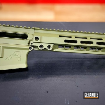 Aero Precision Ar Builders Set Cerakoted Using Noveske Bazooka Green