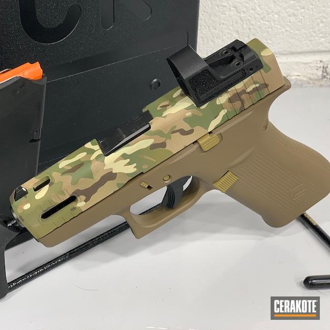 Cerakoted: S.H.O.T,Glock 43X,RMR Cut,MULTICAM® OLIVE H-344,Slide Cut,MULTICAM® PALE GREEN H-339,MultiCam,Desert Sand H-199,BENELLI® SAND H-143,Glock,Custom Glock Slide,GLOCK® FDE H-261,MULTICAM® DARK GREEN H-341