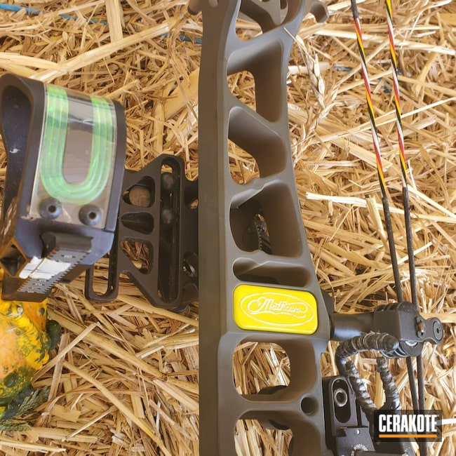 Cerakoted: S.H.O.T,Electric Yellow H-166,TX-5,Compound Bow,Mathews Archery,MAGPUL® O.D. GREEN H-232,Flat Dark Earth H-265